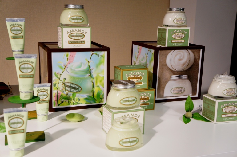 Almond range by L'Occitane/ Pic by kiwikoo