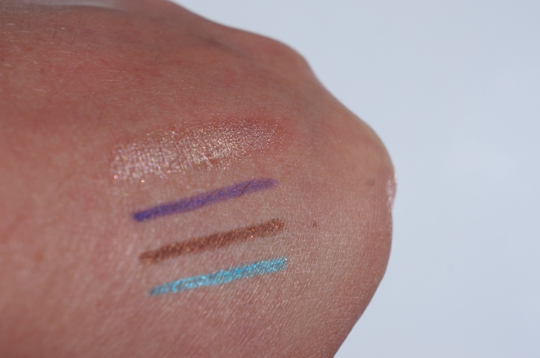 Urban Decay Primer Potion in Sin; Purple Aqua Eyes by MUFE; Teddy by MAC; Electric 24-7 Glide-On by Urban Decay/ Pic by kiwikoo