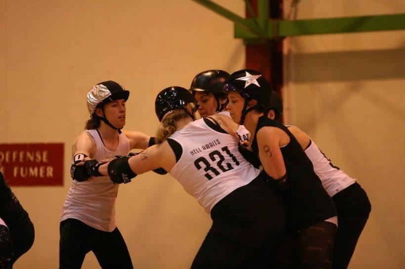 Les Dissidentes Roller Derby Liège/ Pic by Eric Schumacher.