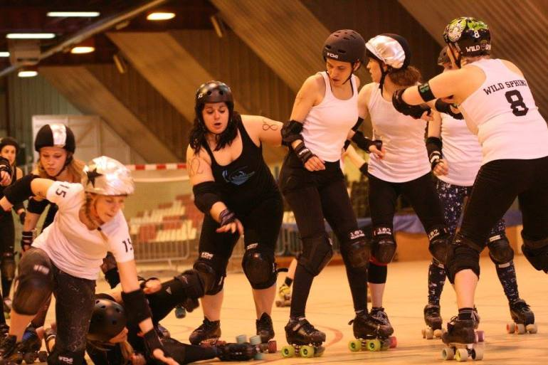 Les Dissidentes Roller Derby Liège/ Pic by Eric Schumacher